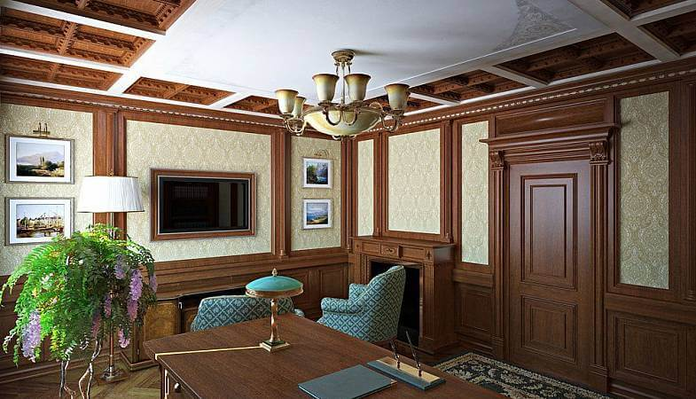 Wall panels, Coffered ceilings